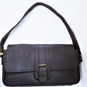 fair trade leather short strap purse from Nepal