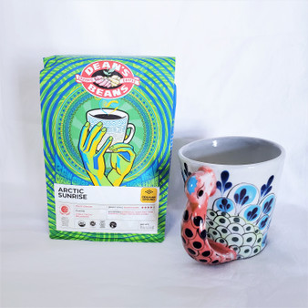 Fair Trade medium dark roasted coffee from Peru, Nicaragua, Honduras, Timor, Papua New Guinea, and Sumatra