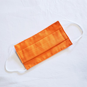 fair trade reusable cotton pleated face mask with elastic ear bands from Thailand