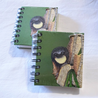 fair trade elephant pooh paper spiral bound journal with sloth from Sri Lanka
