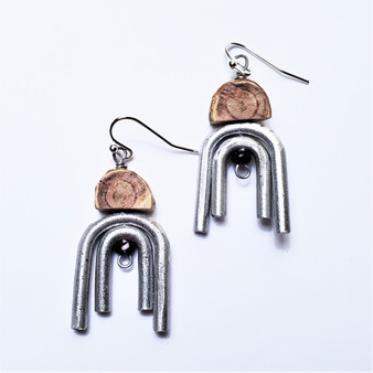 Fair trade recycled metal earrings from Lesotho