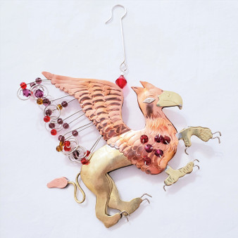 Fair Trade mixed metal griffin ornament from Thailand