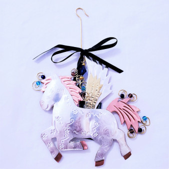 Fair trade mixed metal Pegasus ornament from Thailand