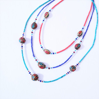 Fair Trade single strand necklace from Nepal