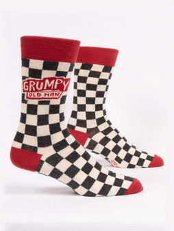 Grumpy old man mens crew sock