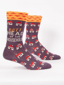 butthead of the household mens crew sock