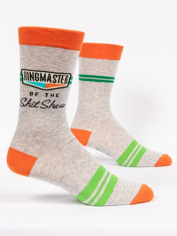 Ringmaster of the shit show mens crew sock BlueQ