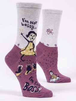 I'm not bossy I'm the boss womens crew sock BlueQ