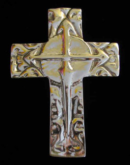 Fair Trade Recycled Aluminum Cross with Lances from Nicaragua