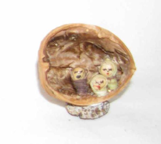 Fair Trade Holy Family in a Walnut Shell from Ecuador