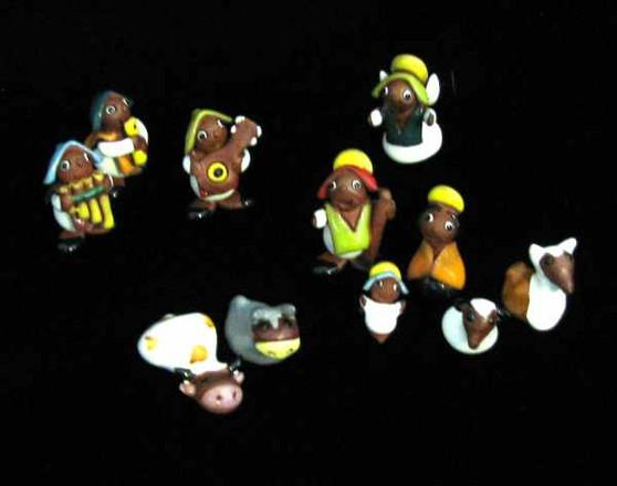 Fair Trade Ceramic Nativity from Bolivia