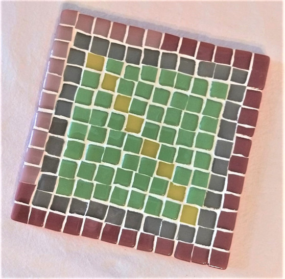 Fair Trade Glass Mosaic Trivet from Lebanon