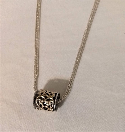 Fair Trade Sterling and Gold Swivel Cylinder Necklace from Israel