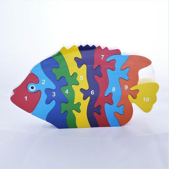 Fair Trade Wooden Fish Puzzle from Sri Lanka