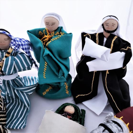 Fair Trade Fabric Nativity Set from Palestine