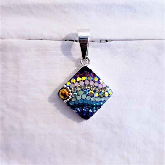 Fair Trade Crystal and Dichroic Glass Pendant from Mexico