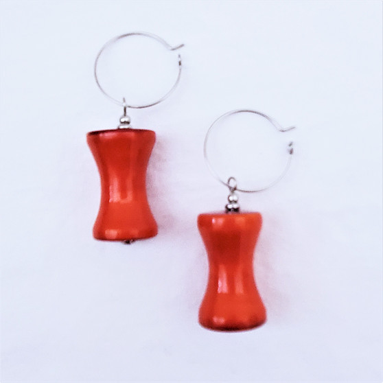 Fair Trade Channapatna Lac Earrings from India