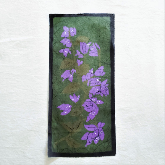 fair trade batik bougainvillea wall art from nepal