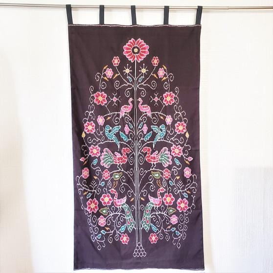 fair trade cotton ikat tree of life wall art from India