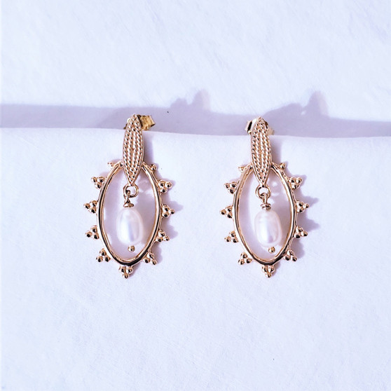fair trade gold plated earrings from India