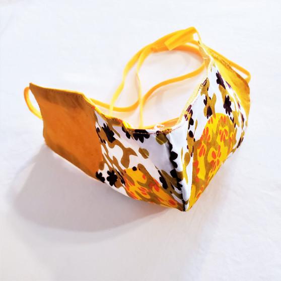 fair trade waxprint cotton face mask from Ghana