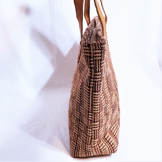 fair trade woven jute purse from Bangladesh
