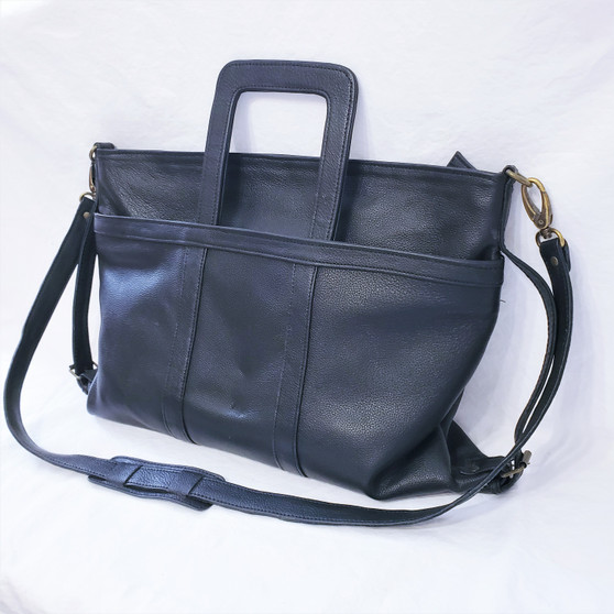fair trade leather computer bag briefcase from Nepal