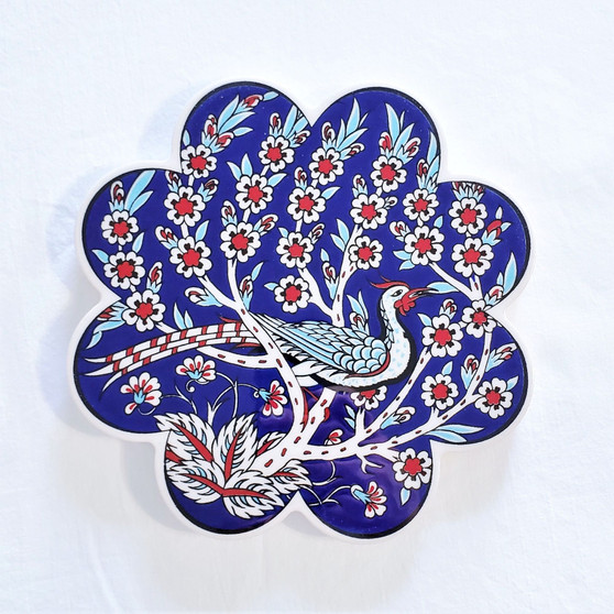 fair trade scalloped edged ceramic trivet from turkey