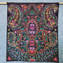 Fair Trade Embroidered Floral Scroll Wall Art from India