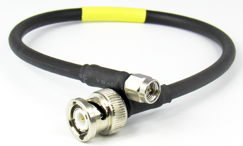 C529-200-18 BNC/Male to SMA/Male LMR200 18 inch Cable Assembly Centric RF