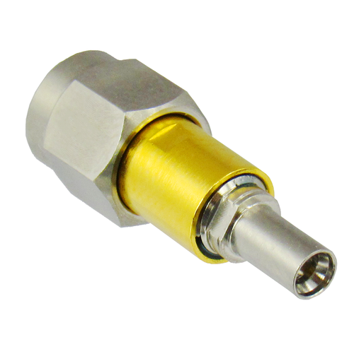 C4387 MiniSMP Male to 2.4mm Male Adapter VSWR 1.20 Max 0-50ghz