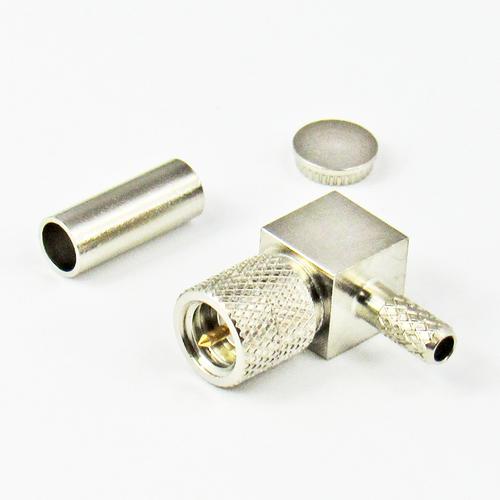 CX10325 10-32 Male Right Angle Crimp Connector Centric RF