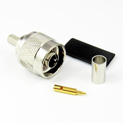 CX5605 N Male LMR240 Crimp/Solder Brass Centric RF