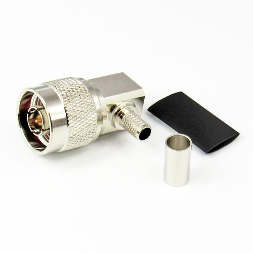 CX5612 Conn N-M LMR240 R Angle Brass Centric RF