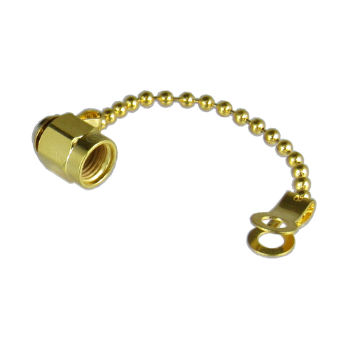 CSM1AC SMA Male Dust Cap with Chain Gold Finish Centric RF