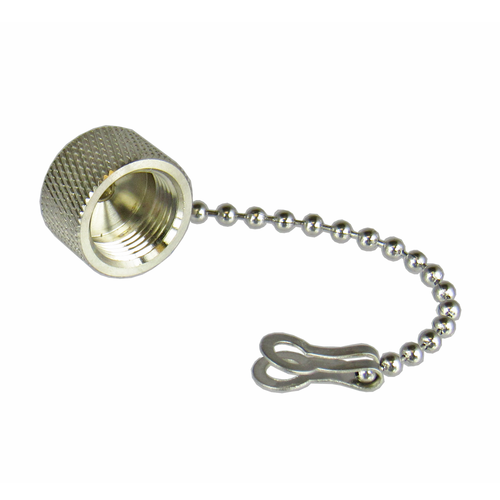 CDT1C TNC/Male Brass Dust Cap with Chain Centric RF
