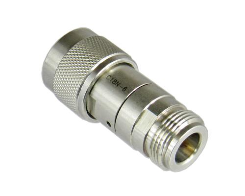 C18N-0 N/Male to N/Female 18 Ghz 2 Watt 0 dB Attenuator Centric RF