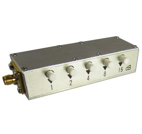 CR25S30P SMA/Female 30 dB Push Button Attenuator Centric RF
