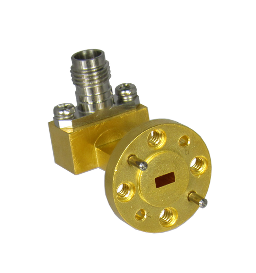 CWR15185 WR15 to 1.85/Female Waveguide to Coaxial Adapter Under View Centric RF