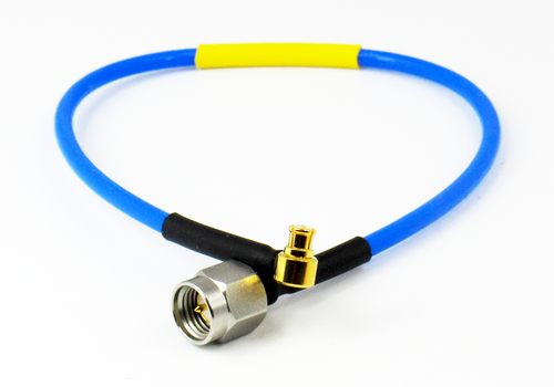 "C574-086-09B Cable SMP /FRA to SMA/M 086 Flexible 18Ghz VSWR 1.35 9"" Centric RF"