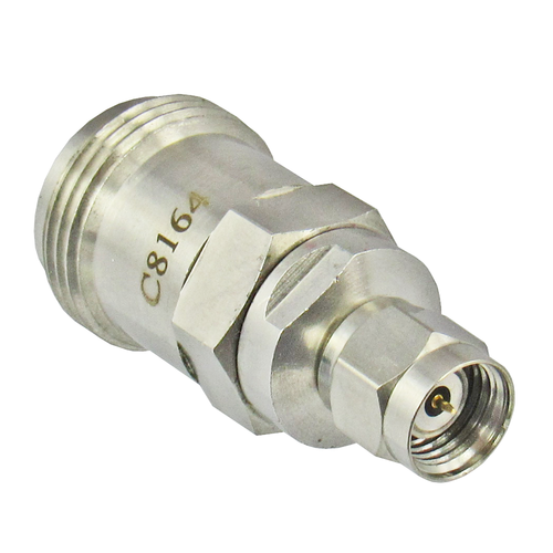 C8164 1.85mm Male to N Female Adapter 18ghz VSWR 1.2 Centric RF