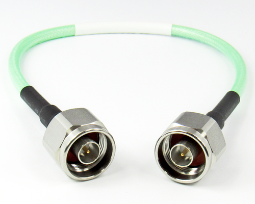C5050-143-XX 3-36 inches Custom N/Male to N/Male Cable Assembly w LL142 Cable 18Ghz