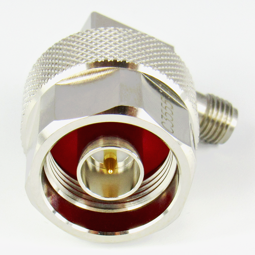 C3555 SMA /F to  N /M  Right Angle Adapter 6 Ghz VSWR 1.15 S Steel SMA Brass  N