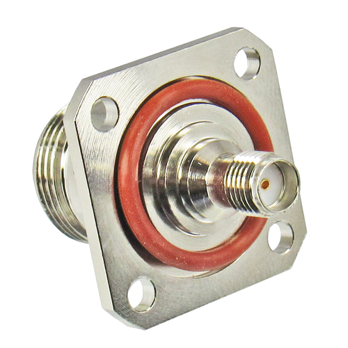 C3645 SMA to N F/F Flange Adapter 11Ghz VSWR 1.3 Centric RF