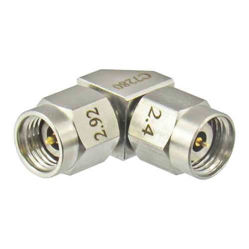 C7280 2.92mm Male to 2.4mm Male Adapter Right Angle VSWR 1.15 40Ghz Centric RF