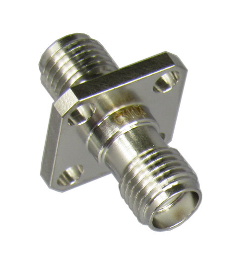 C3104 SMA/Female to SMA/Female 4 Hole Flange Adapter Centric RF