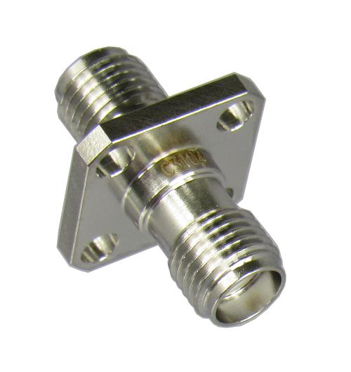 C3104 SMA/Female to SMA/Female 4 Hole Flange Adapter Centric RF