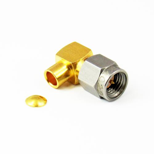 CX4022 SMA Male Right Angle Crimp Connector RG402 Centric RF