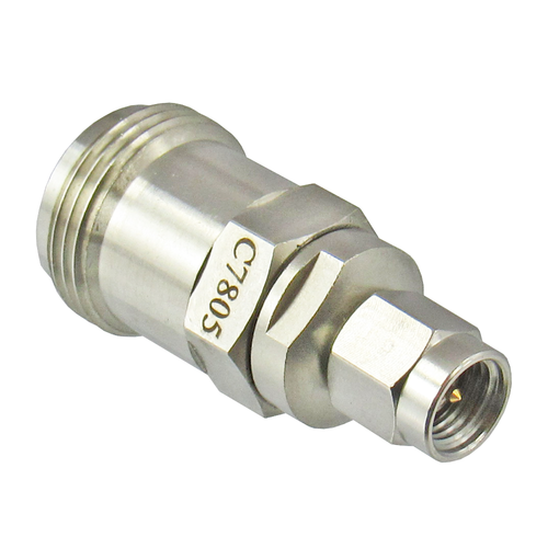 C7805 3.5mm Male to N Female Adapter 18Ghz Centric RF