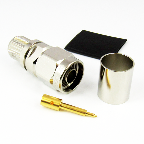 CX6008 N Male Connector for LMR600 Cable Brass Centric RF